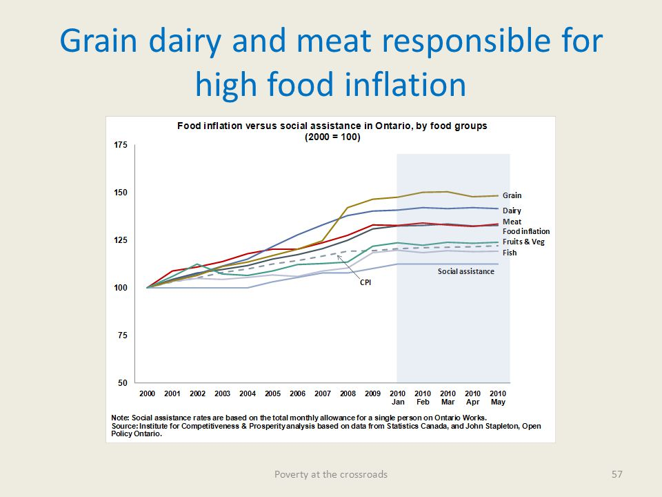Grain dairy and meat responsible for high food inflation Poverty at the crossroads57