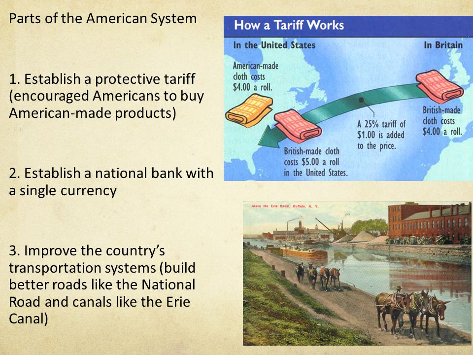 Parts of the American System 1.