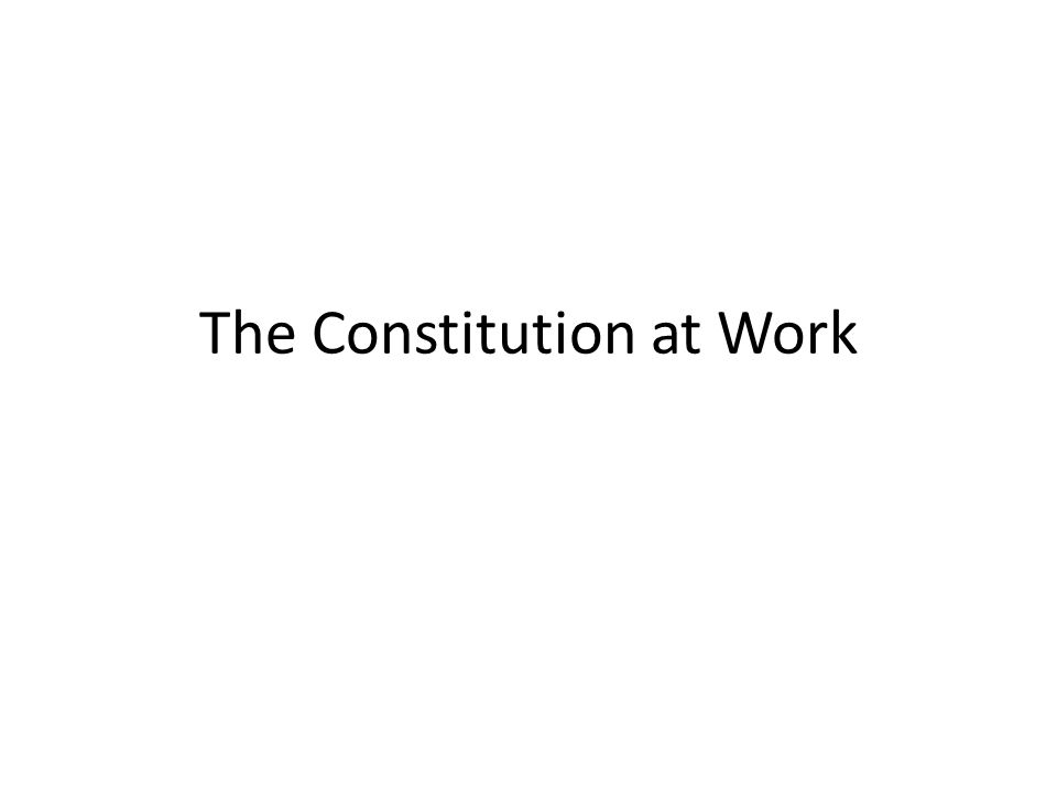 ask students to consider both the documents they have seen and the Constitution itself.