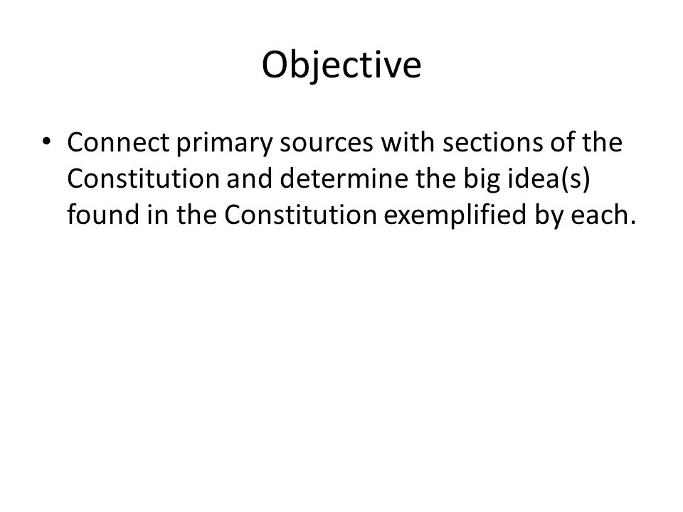 Review Constitution Components – Preamble – Articles – Bill of Rights – Additional Amendments
