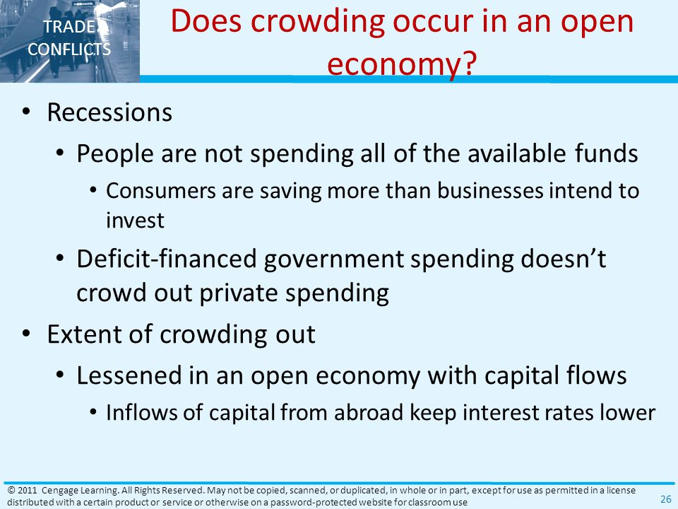 TRADE CONFLICTS Does crowding occur in an open economy.
