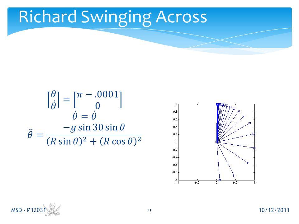 Richard Swinging Across 10/12/2011 MSD - P12031 13