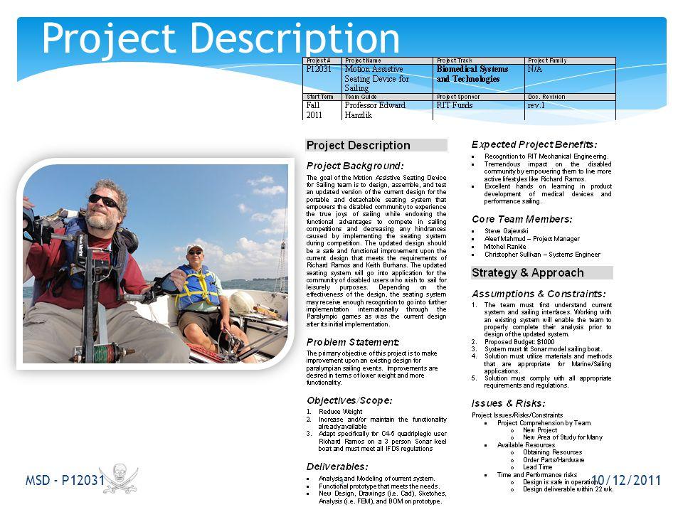 10/12/2011 MSD - P12031 Project Description 3