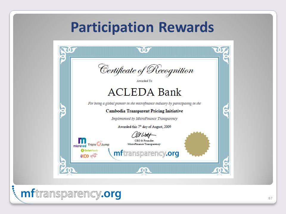 Participation Rewards 67