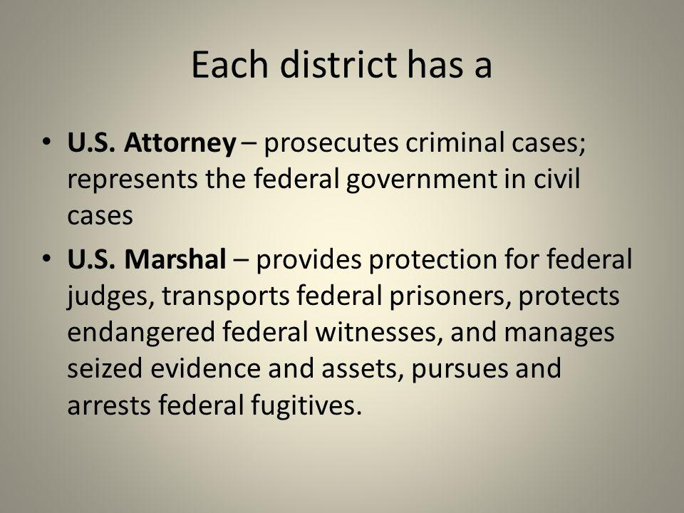 Each district has a U.S.