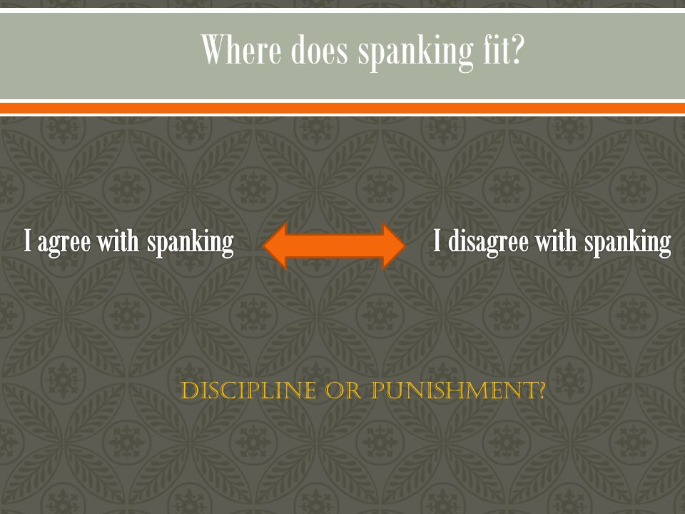 Where does spanking fit? Discipline or Punishment?
