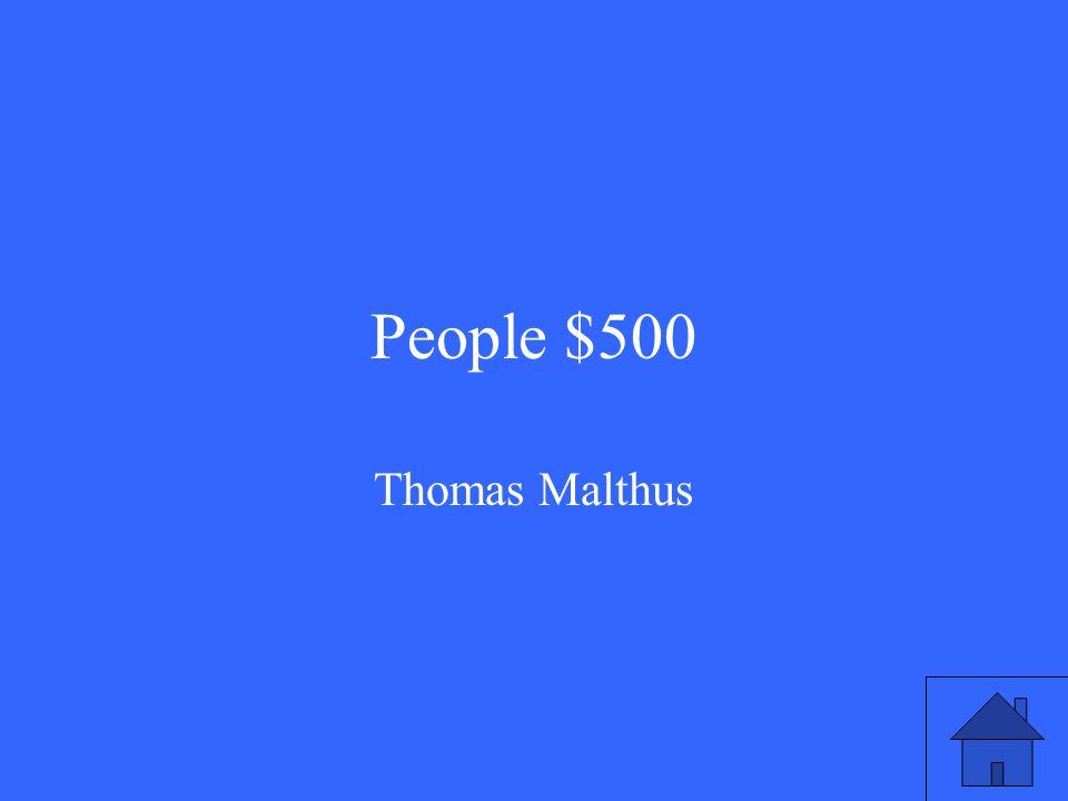 People $500 Thomas Malthus