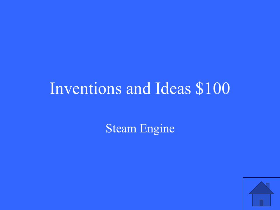 Inventions and Ideas $100 Steam Engine