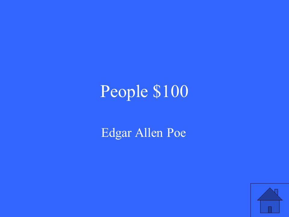 People $100 Edgar Allen Poe