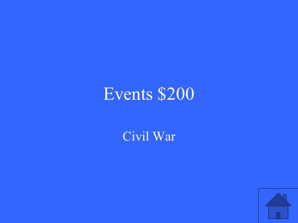 Events $200 Civil War