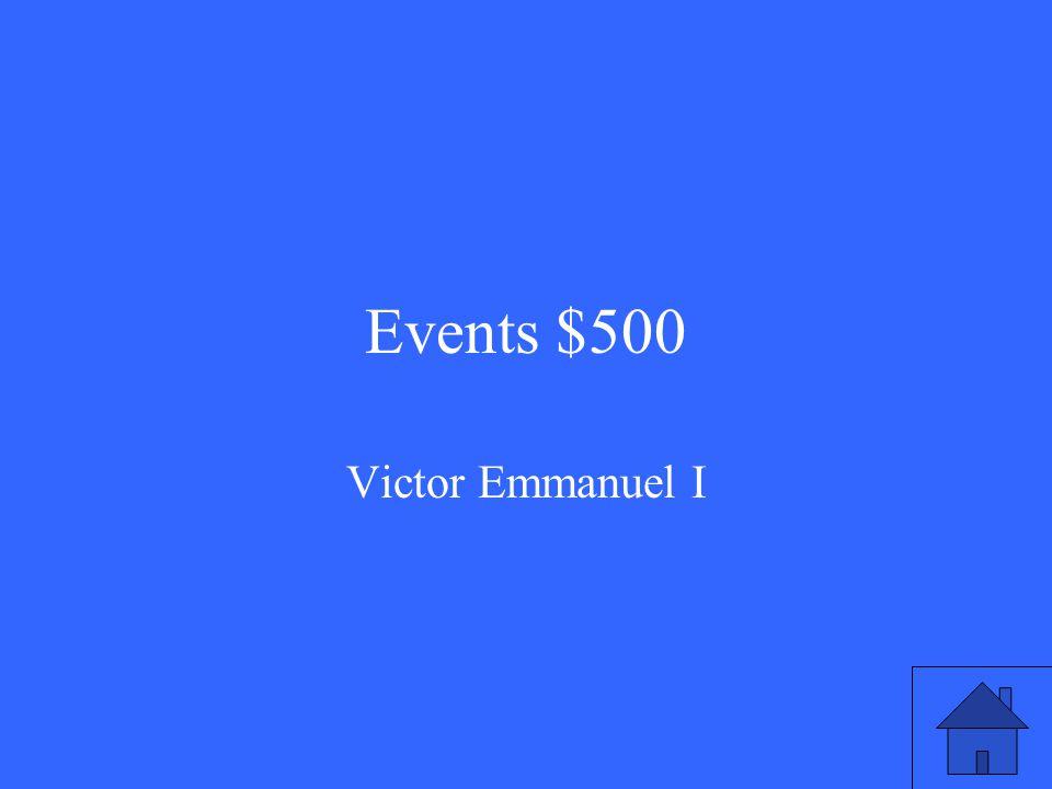 Events $500 Victor Emmanuel I