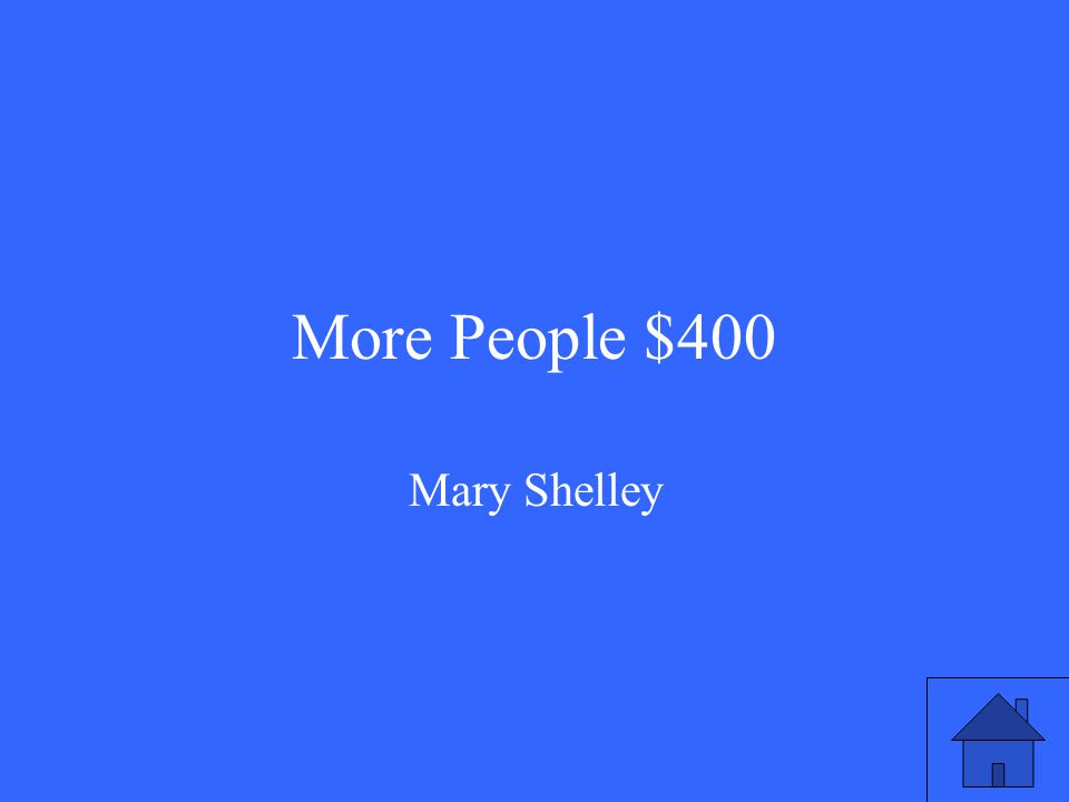 More People $400 Mary Shelley