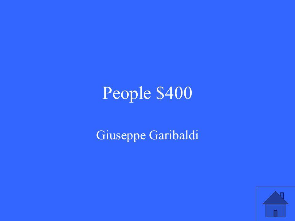 People $400 Giuseppe Garibaldi