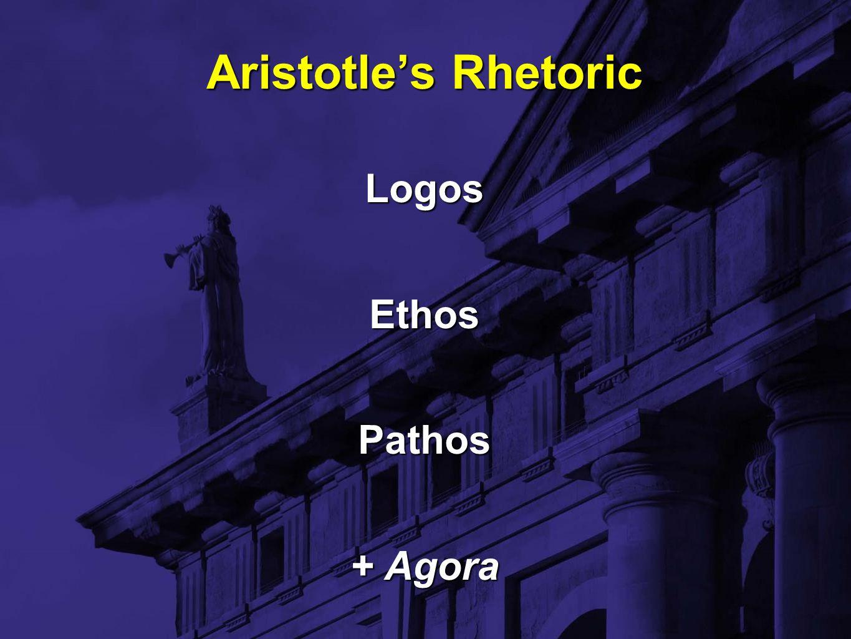 Aristotle's Rhetoric LogosEthosPathos + Agora