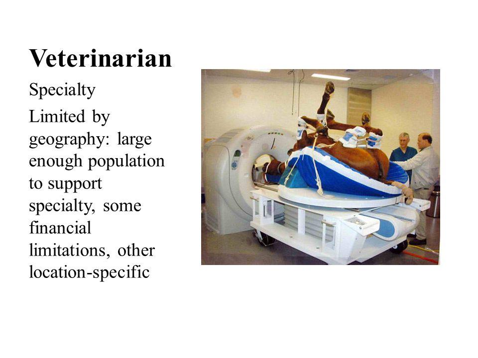 Veterinary Technician Starting salary: $17,362 - $39,732 Typically maximum salary $68,000 Specialty training available.