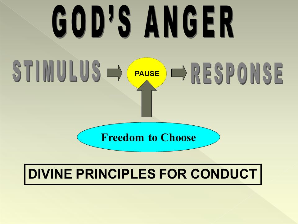 PAUSE DIVINE PRINCIPLES FOR CONDUCT Freedom to Choose