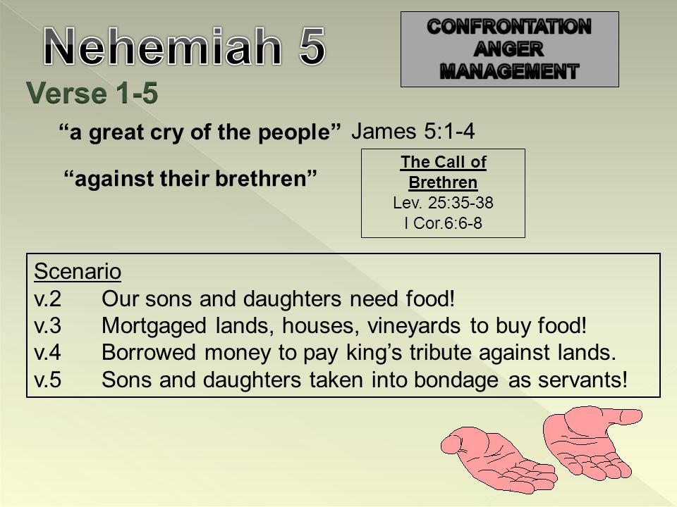 a great cry of the people James 5:1-4 against their brethren Scenario v.2Our sons and daughters need food.