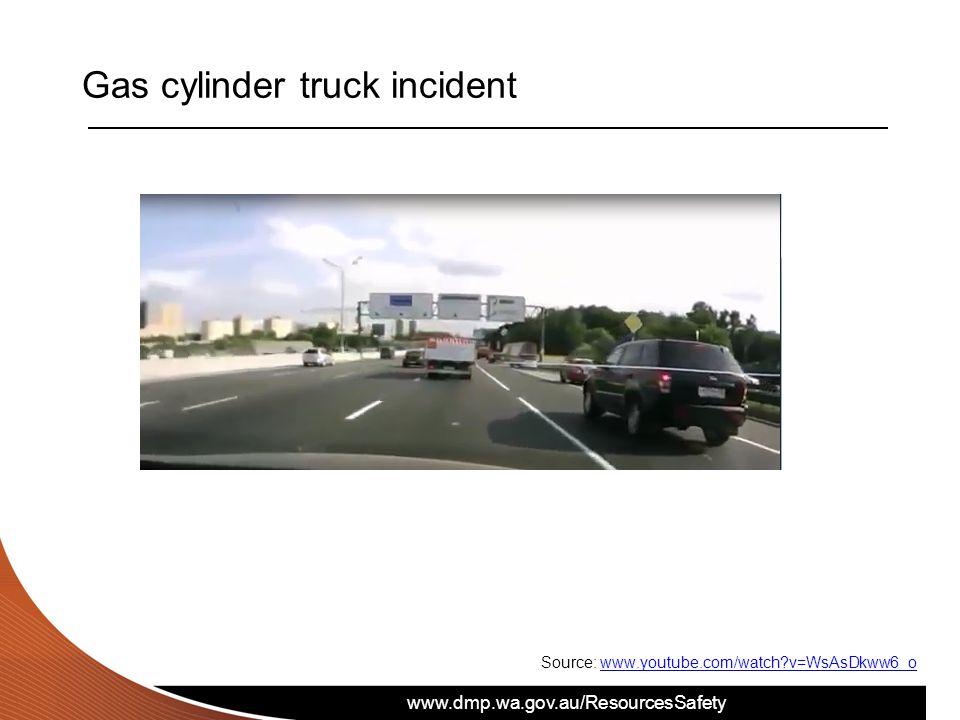www.dmp.wa.gov.au/ResourcesSafety Gas cylinder truck incident Source: www.youtube.com/watch?v=WsAsDkww6_owww.youtube.com/watch?v=WsAsDkww6_o