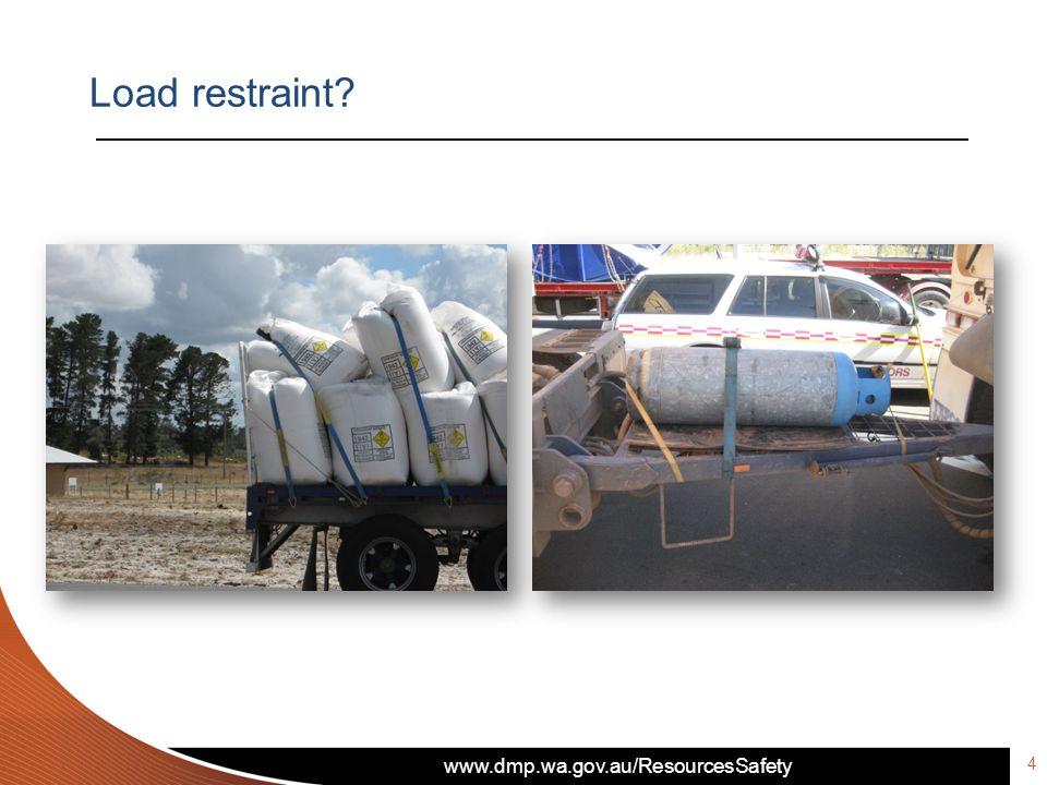 www.dmp.wa.gov.au/ResourcesSafety 4 Load restraint?