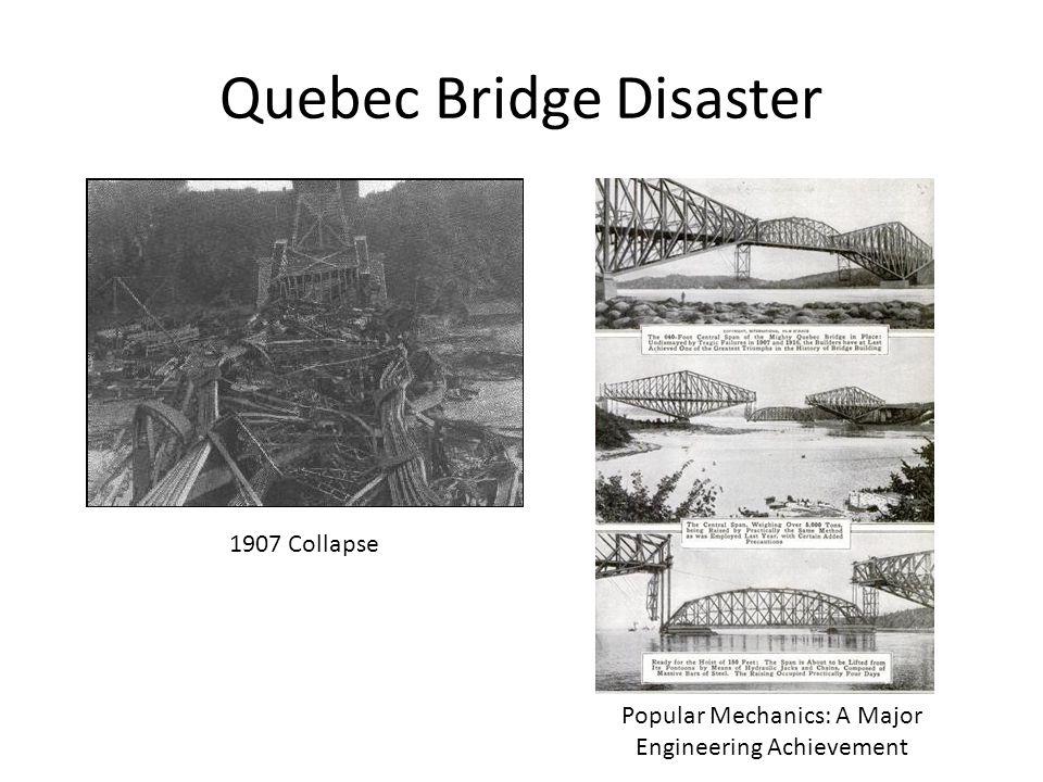 Quebec Bridge Disaster 1907 Collapse Popular Mechanics: A Major Engineering Achievement