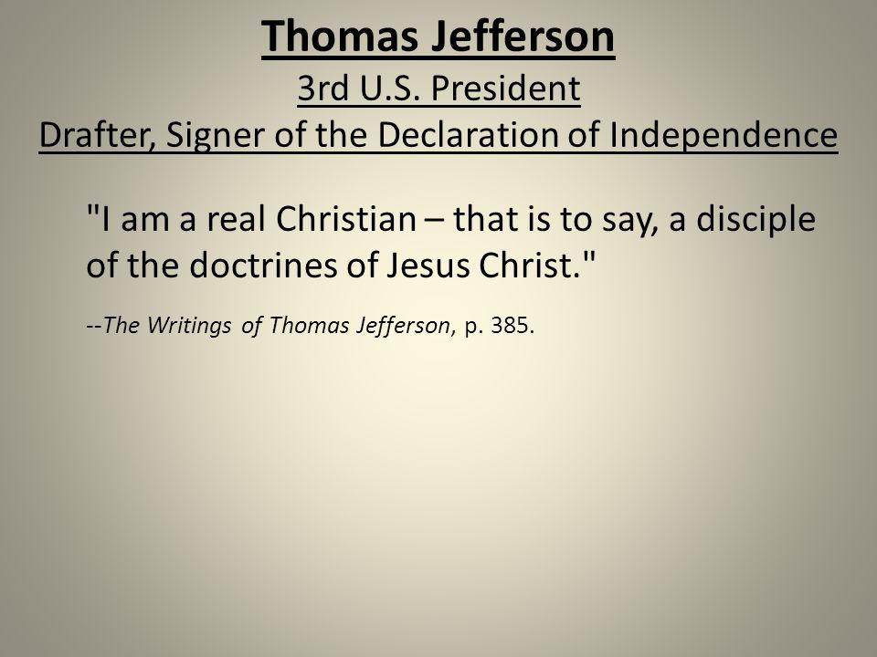Thomas Jefferson 3rd U.S.