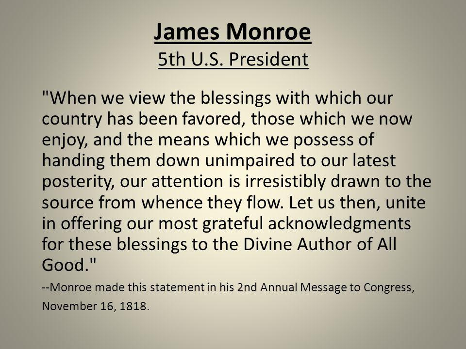 James Monroe 5th U.S.