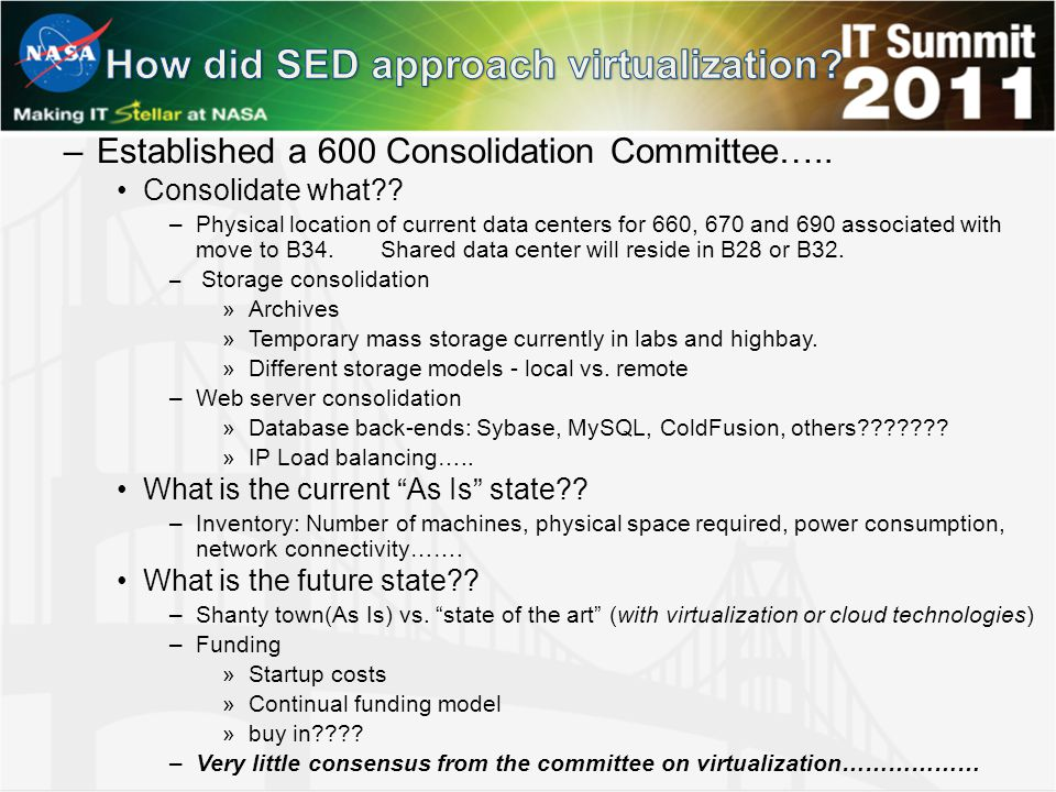 –Established a 600 Consolidation Committee….. Consolidate what .