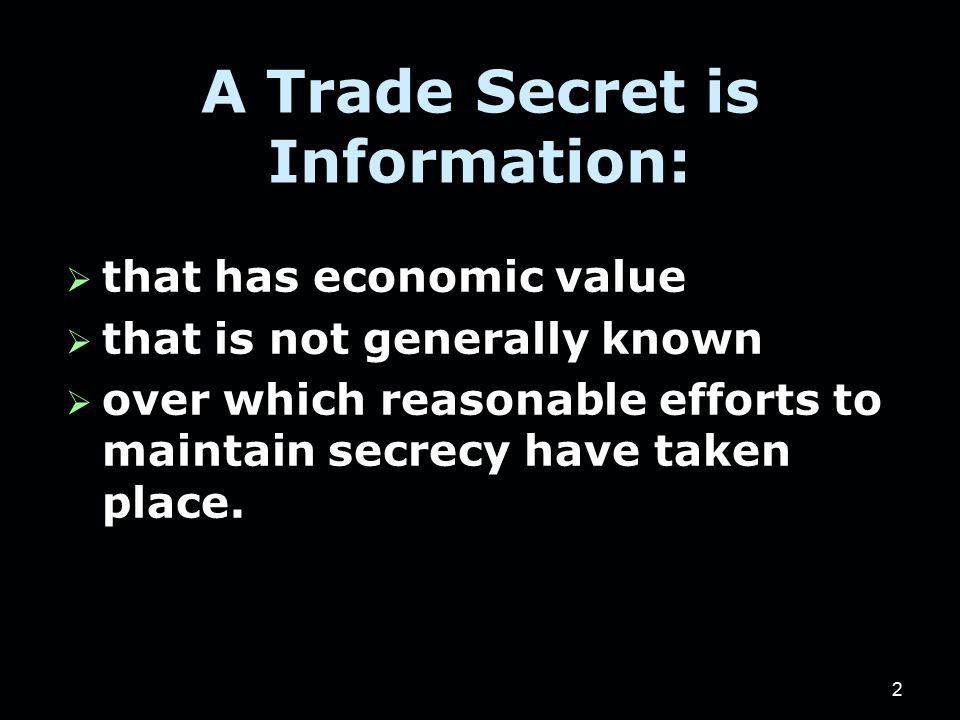 13 Illinois Trade Secrets Act 1.Effective since 1988 2.