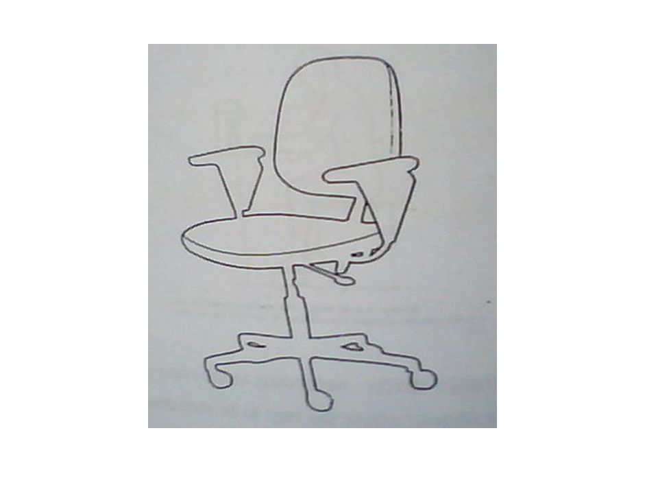 The easy chair : is a chair which is preferred to relax the posture, it can be considered as relaxing chair The work chair : is a suitable chair for subject during performing certain job A multipurpose chair : is a modern type of chairs which has been used recent, it allows to move around his place and perform different tasks