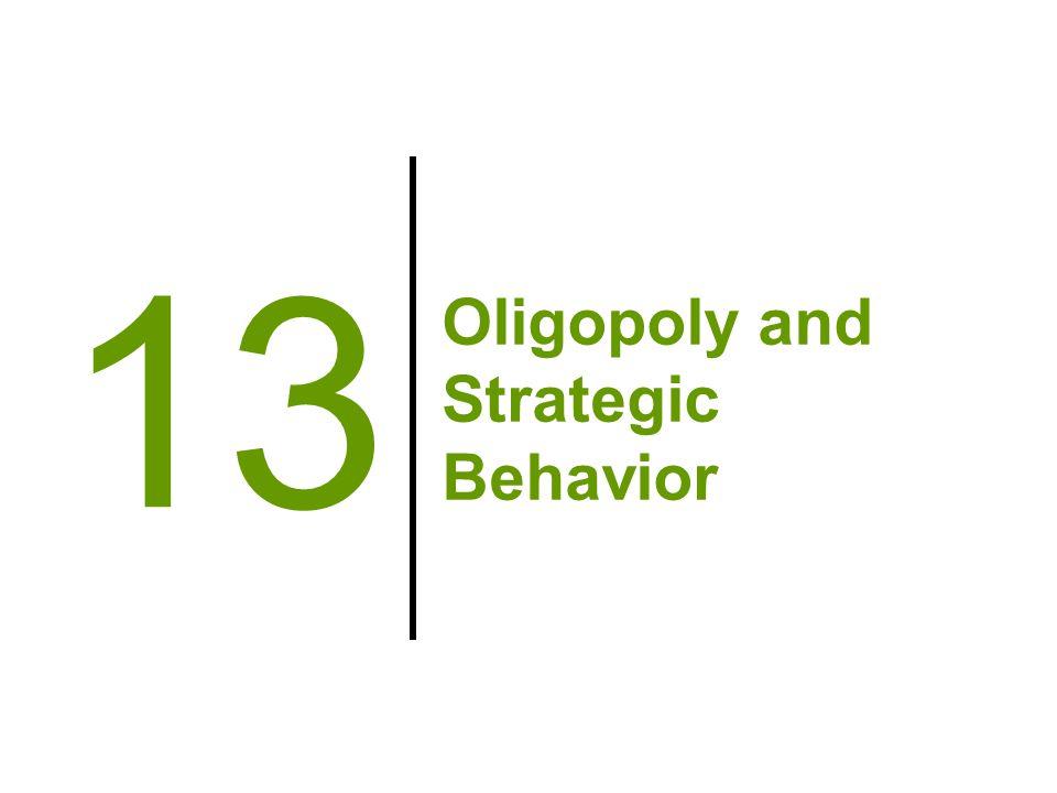 Oligopoly and Strategic Behavior 13
