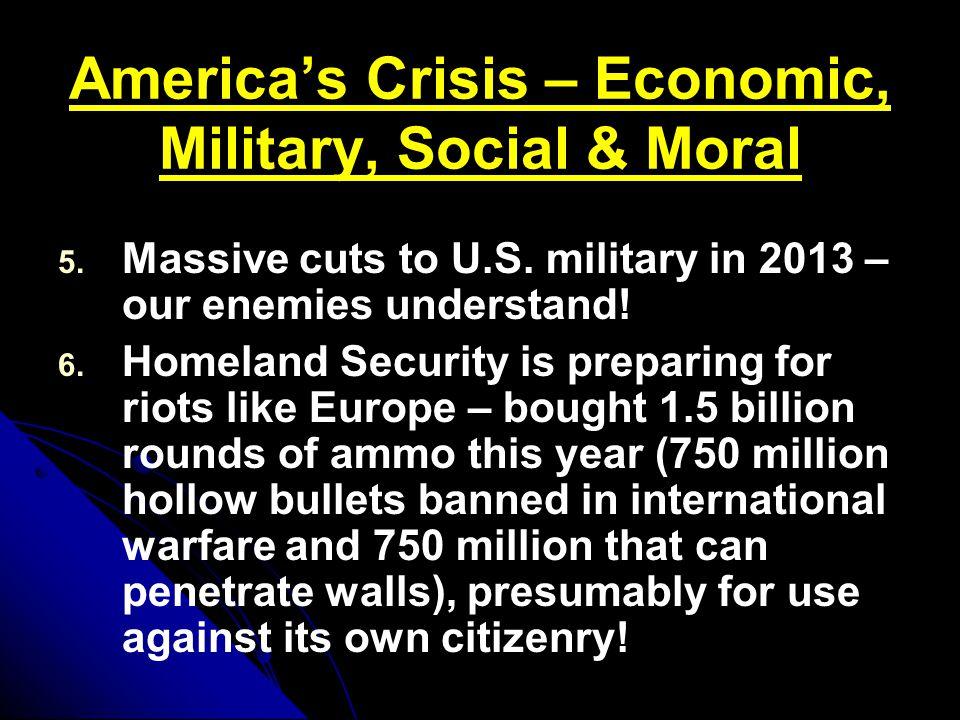 America's Crisis – Economic, Military, Social & Moral 5.