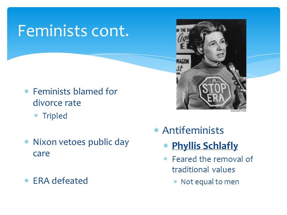 Feminists cont.