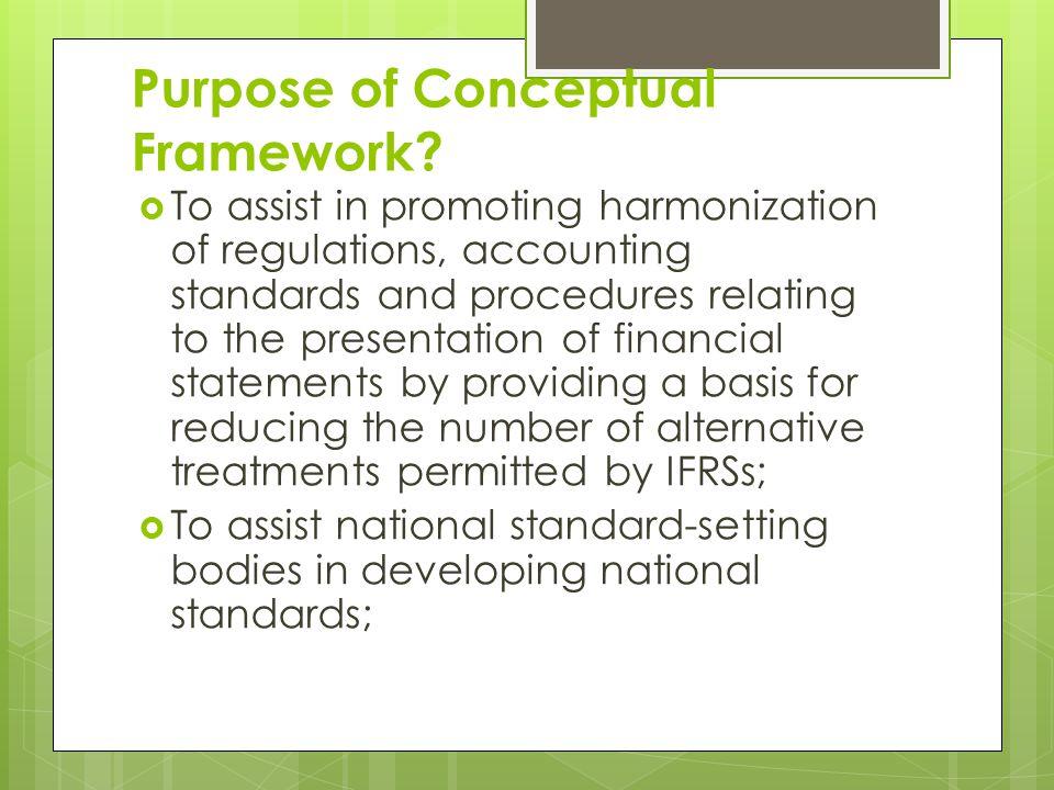 Purpose of Conceptual Framework.