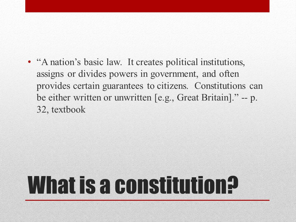 Understanding the Constitution Review: Democratic government was despised and feared among eighteenth century upper-class society Constitution created a republic, a representative form of government modeled after the Lockean tradition of limited government One of the central themes of US history is the gradual democratization of the Constitution, away from the elitist model of democracy and toward the pluralist model