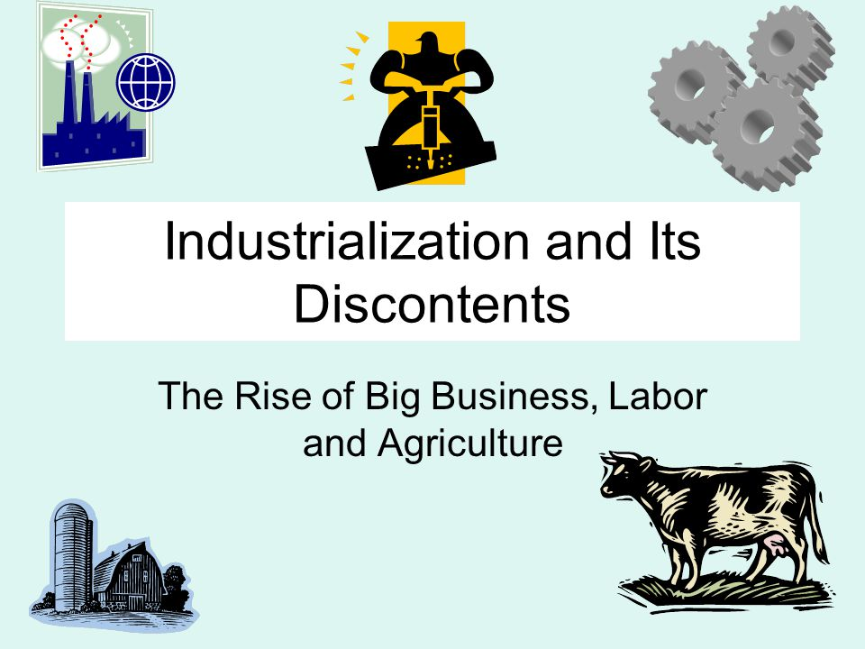 The Industrial Revolution Involved the invention of new machines and new systems.