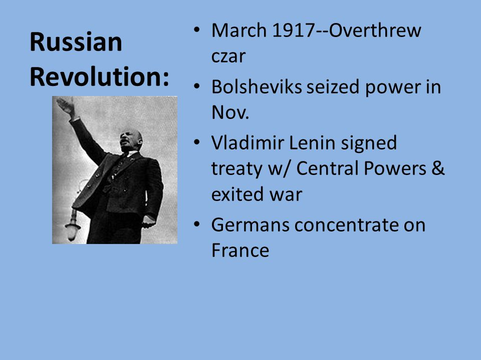 Objectives: Discuss the Russian Revolution.