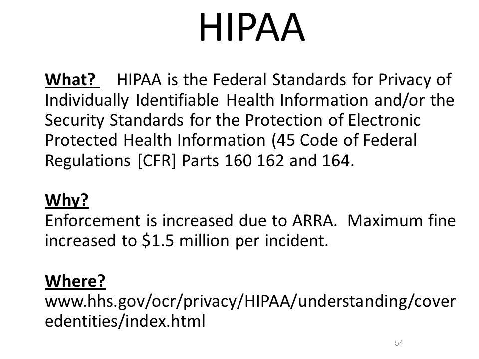 HIPAA 54