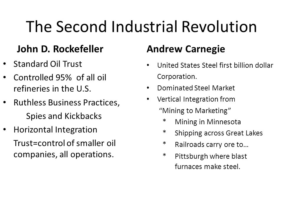 The Second Industrial Revolution John D.