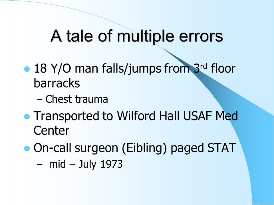1973 Emergency Rooms are just rooms – Eibling begins his internship at Wilford Hall, San Antonio Tx