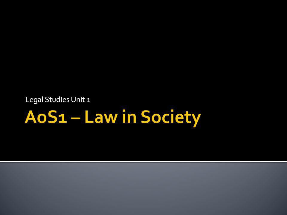 Legal Studies Unit 1
