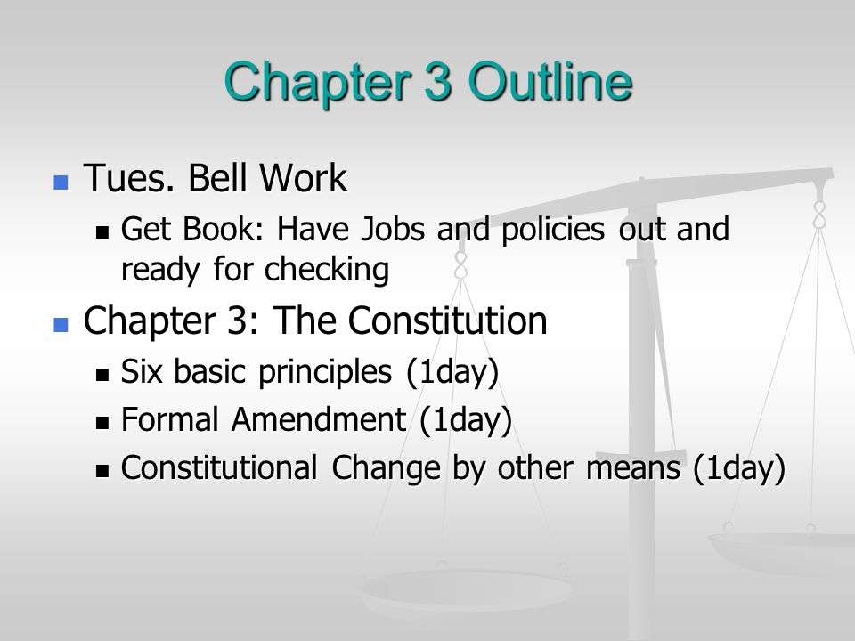 Section 1 What are the important elements of the constitution.