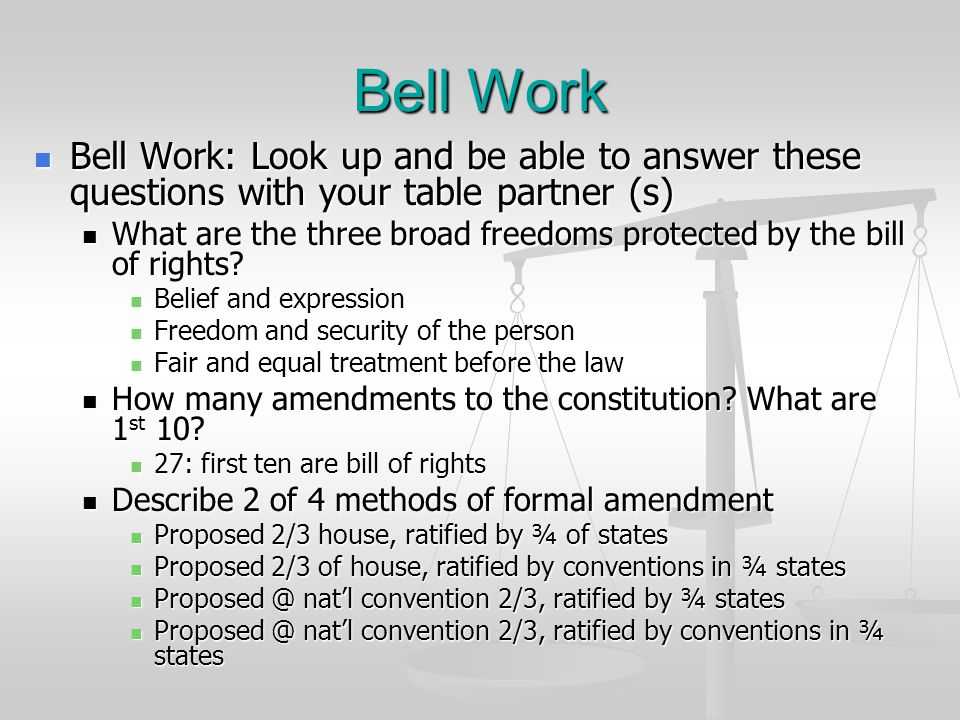 Bell Work Bell Work: Look up and be able to answer these questions with your table partner (s) Bell Work: Look up and be able to answer these question