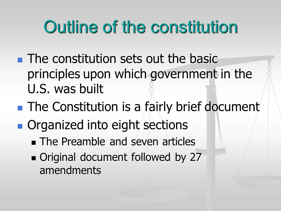 Legislation Important in two ways Important in two ways Has passed a number of laws that helped spell out several of the constitutions brief provisions Has passed a number of laws that helped spell out several of the constitutions brief provisions Examples include est.