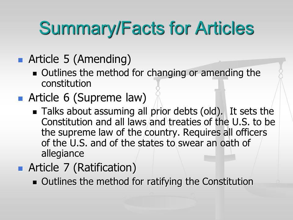 Amendment Process 3.