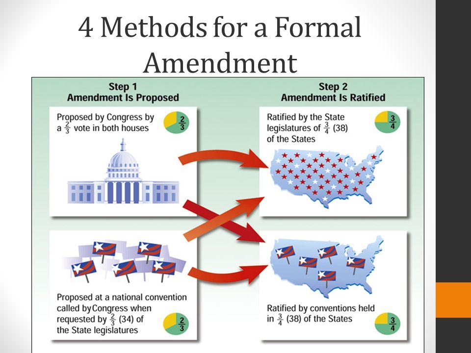 4 Methods for a Formal Amendment
