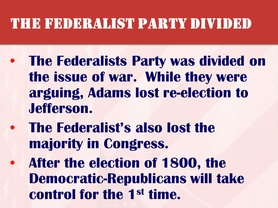 Why they were passed The federalist-controlled Congress wanted to:  strengthen the federal government  silence Republican Opposition Results Discour