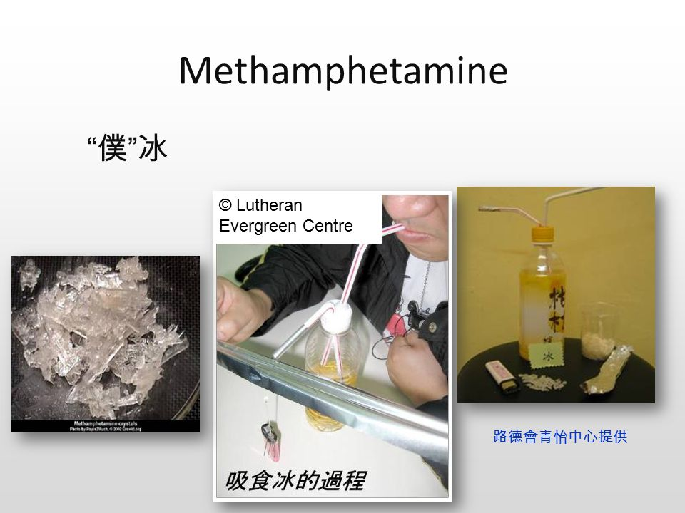Methamphetamine 路德會青怡中心提供 © Lutheran Evergreen Centre 僕 冰 僕 冰