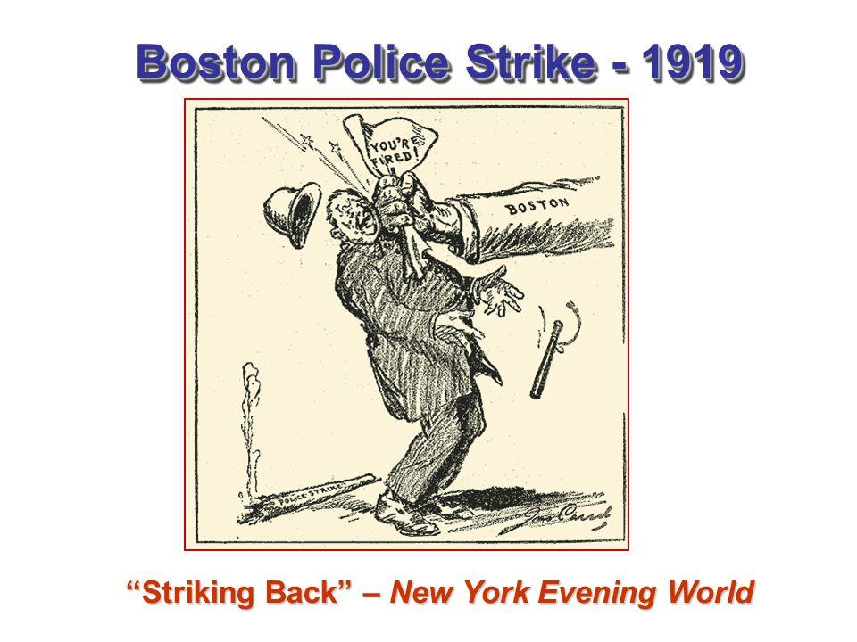 "Boston Police Strike - 1919 ""Striking Back"" – New York Evening World"