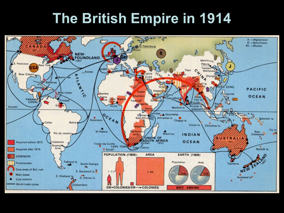 The British Empire in 1914