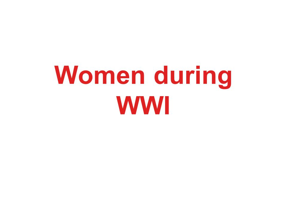 Women during WWI
